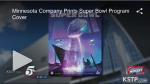 Minnesota Company OlymPak Prints Super Bowl Cover.